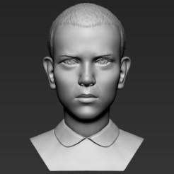 1.jpg Download STL file Eleven Stranger Things bust 3D printing ready stl obj formats • 3D print design, PrintedReality