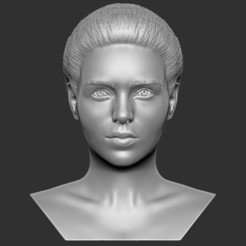 1.jpg Download STL file Beautiful woman bust 3D printing ready TYPE 3 • 3D print design, PrintedReality