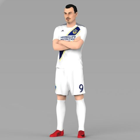 new product 15cc4 ba5b4 Zlatan Ibrahimovic LA Galaxy ready for full color 3D printing