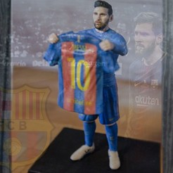 3D printer files Lionel Messi ready for full color 3D printing, PrintedReality