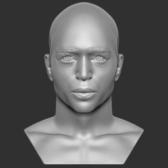 1.jpg Download STL file Handsome afroamerican man bust 3D printing ready TYPE 2 • 3D printable design, PrintedReality