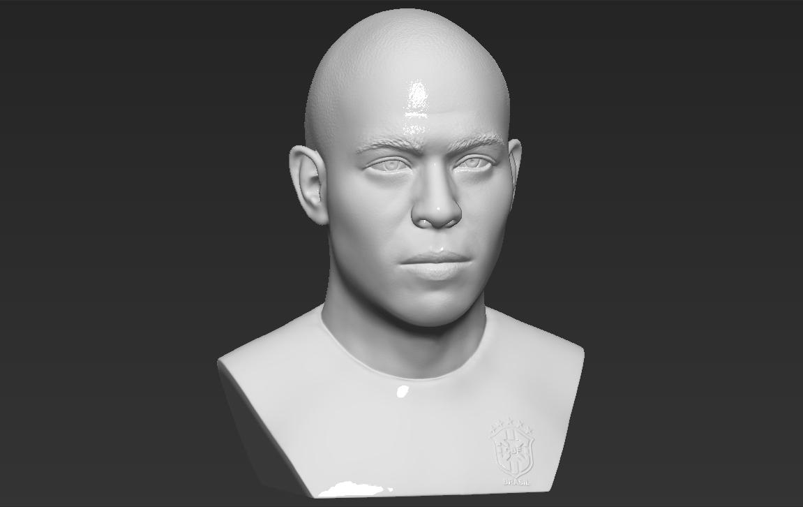 10.jpg Download STL file Ronaldo Nazario Brazil bust 3D printing ready stl obj formats • Template to 3D print, PrintedReality