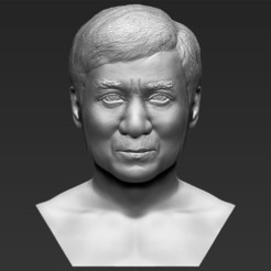 Download 3D printer files Jackie Chan bust 3D printing ready stl obj, PrintedReality
