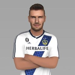 Download 3D print files David Beckham LA Galaxy ready for full color 3D printing, PrintedReality