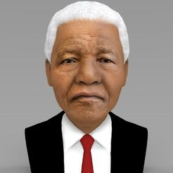 Download STL files Nelson Mandela bust ready for full color 3D printing, PrintedReality