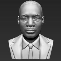 Download STL Martin Luther King bust 3D printing ready stl obj, PrintedReality