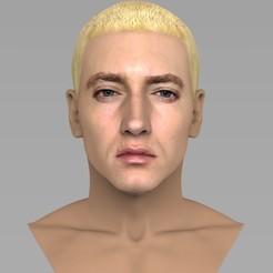 untitled.1392.jpg Télécharger fichier STL Le buste d'Eminem prêt pour l'impression 3D en couleur • Plan pour impression 3D, PrintedReality