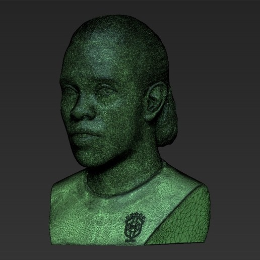 34.jpg Download STL file Ronaldinho bust 3D printing ready stl obj formats • 3D printable template, PrintedReality