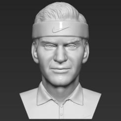 Descargar archivo STL Roger Federer buscó formatos stl obj listos para impresión en 3D • Modelo para la impresora 3D, PrintedReality