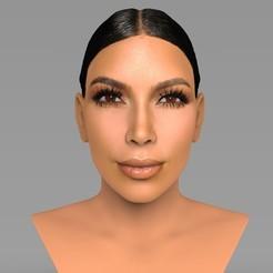 3D print model Kim Kardashian bust ready for full color 3D printing, PrintedReality
