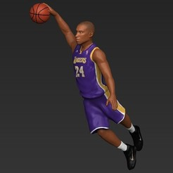 Download STL file Kobe Bryant ready for full color 3D printing, PrintedReality