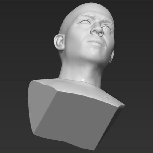 21.jpg Download STL file Ronaldo Nazario Brazil bust 3D printing ready stl obj formats • Template to 3D print, PrintedReality