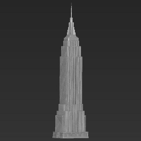Empire State Building 3D printing ready stl obj