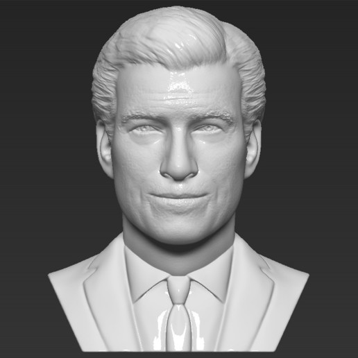 Download STL file James Bond Pierce Brosnan bust 3D printing ready stl obj formats • 3D printing object, PrintedReality