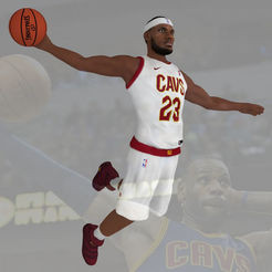 Download 3D printer files Lebron James ready for full color 3D printing, PrintedReality