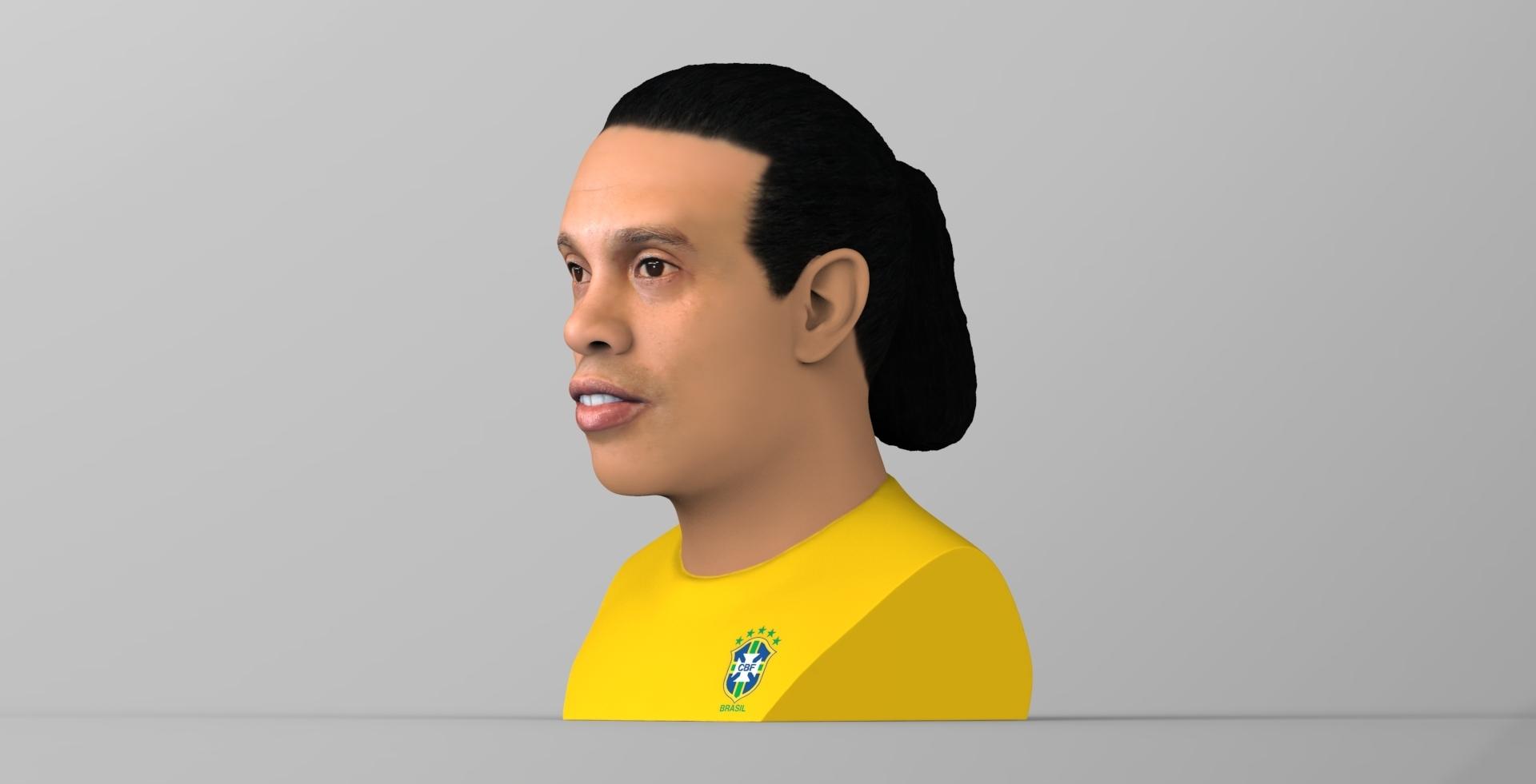 untitled.1681.jpg Download STL file Ronaldinho bust ready for full color 3D printing • 3D print model, PrintedReality