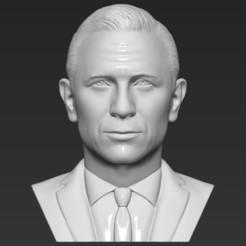 1.jpg Télécharger fichier STL James Bond Daniel Craig a fait un buste d'impression 3D prêt stl obj • Objet pour imprimante 3D, PrintedReality