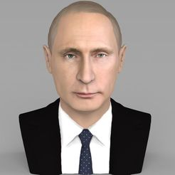 Download 3D model Vladimir Putin bust ready for full color 3D printing, PrintedReality