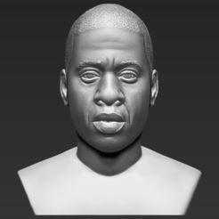 Objet 3D Jay-Z bust 3D impression 3D prêt à l'emploi stl obj, PrintedReality