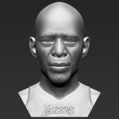 Download 3D printer designs Kareem Abdul-Jabbar bust 3D printing ready stl obj formats, PrintedReality