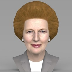 untitled.1707.jpg Download STL file Margaret Thatcher bust ready for full color 3D printing • 3D printing template, PrintedReality