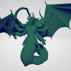 Download free 3D model Fulgrim - Daemon Prince, SchroCosp