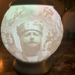 unnamed (1).jpg Download OBJ file Monty Python Sphere Lithophane • Model to 3D print, kbmay44