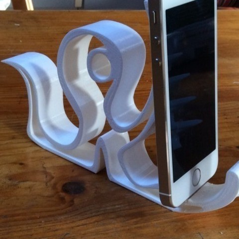 Free 3D printer designs Octopus hollow iphone stand, Cornbald
