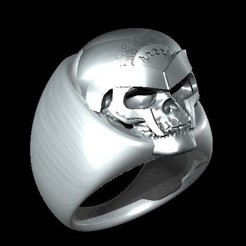 Download free STL files Skull Ring, Cornbald
