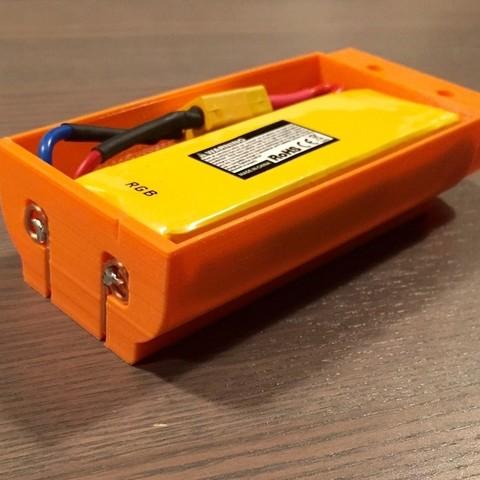 Download free 3D printer designs Nerf Rapidstrike LiPo battery housing, Cornbald