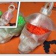 Download free 3D printer model Skull & Brain Keyring, Cornbald