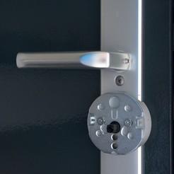 Télécharger objet 3D gratuit Plaque de montage Danalock Smartlock Hoppe, Cornbald