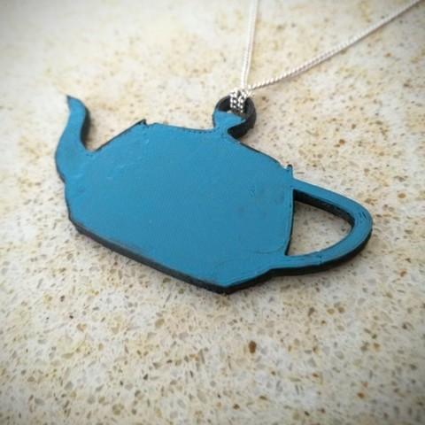 Download free 3D printing designs Teapot pendant, Chanrasp