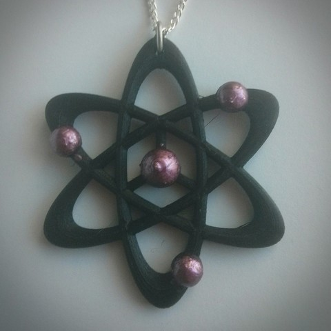 Download free 3D printer model Science-themed necklace, Chanrasp