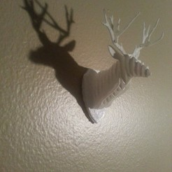 Download free 3D printer designs Trophy Stag Head, Chanrasp