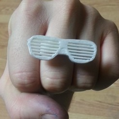 Download free 3D printing models Sunglasses Topper - Stubby Mini Ring-a-Thing, Chanrasp