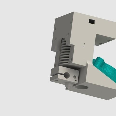 Download free 3D printing files Cyrus V2 Spare; E3D V6 hotend holder, Khuzural