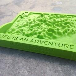 Fichier imprimante 3D gratuit Carte de la région Mt Blanc, Khuzural