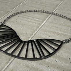 Free 3D model Radial Statement Necklace, Khuzural