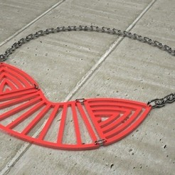 Free 3D printer model Mixed Statement Necklace, Khuzural