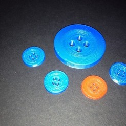 Free 3D print files Classic Button, Khuzural