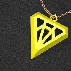Free 3D printer designs Diamond-ish Pendant, Khuzural