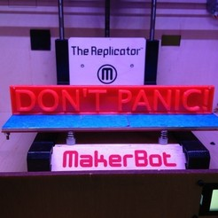 Download free STL file Don't Panic! sign • 3D print design, Khuzural