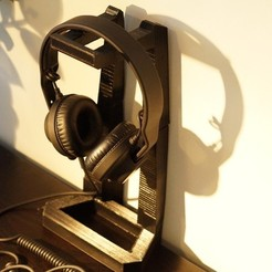 Download free STL files Yet Another Headphone Stand, csigshoj