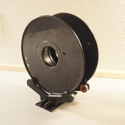 Download free STL file Sitting Spool mount w/Bearings and custom width, csigshoj