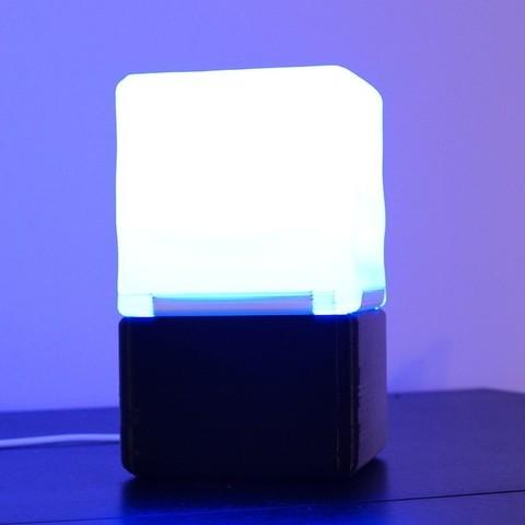 de70c4b6dfd565f62f1fbdde4076cb1d_display_large.JPG Download free STL file Cube Lamp • Design to 3D print, csigshoj