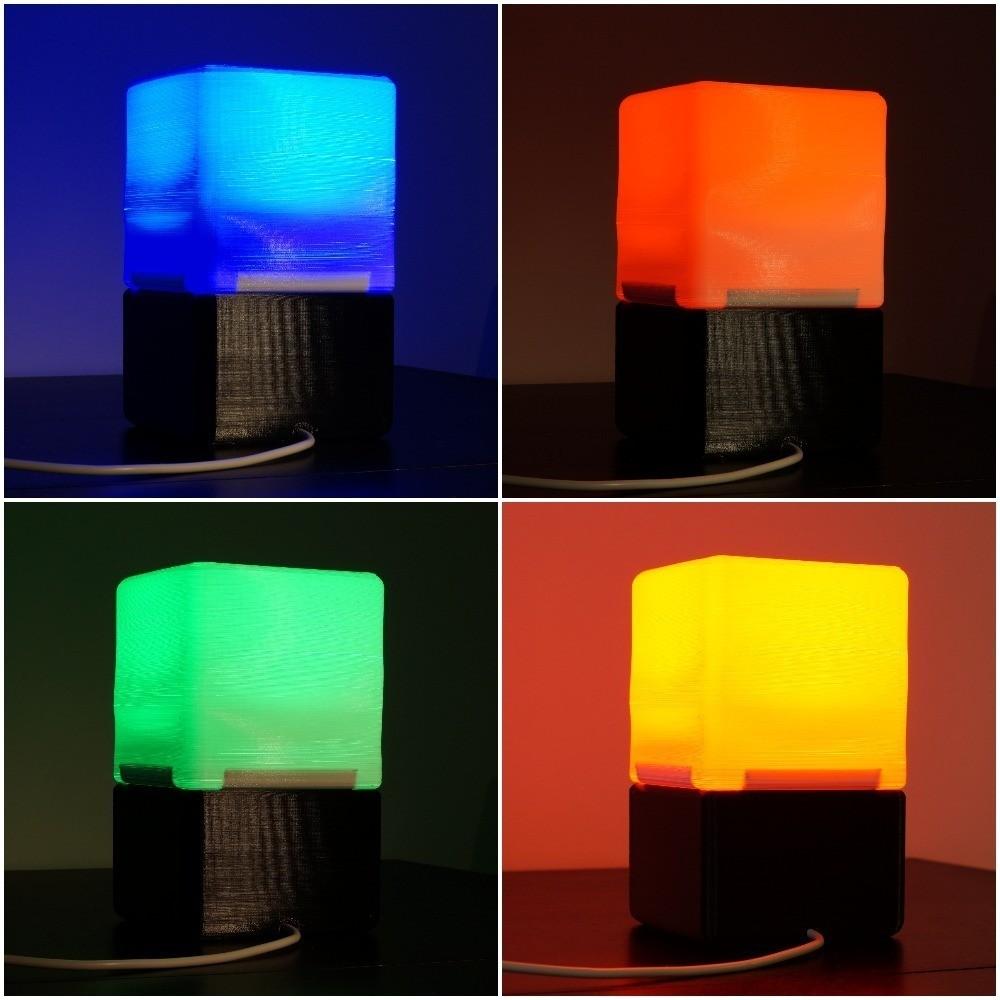 9c6bc6922cbbbbfaf6a783d04c06610e_display_large.jpg Download free STL file Cube Lamp • Design to 3D print, csigshoj