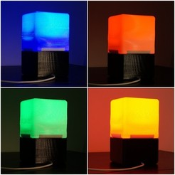Download free 3D printer templates Cube Lamp, csigshoj