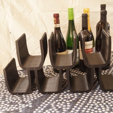 Télécharger fichier imprimante 3D gratuit Porte-bouteilles modulaire, csigshoj
