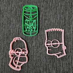 Télécharger fichier 3D Le pack Simpson x3 - Homer, Bart, Duff, 3dcookiecutterscom